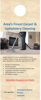 custom carpet cleaning door hangers
