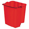 RCP9C74RED:  Rubbermaid® Commercial Dirty Water Bucket for WaveBrake® Bucket/Wringer
