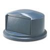 RCP263788GY:  Rubbermaid® Commercial Round Brute® Dome Top