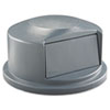 RCP264788GRA:  Rubbermaid® Commercial Round Brute® Dome Top