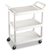 RCP342488OWH:  Rubbermaid® Commercial Three-Shelf Service Cart