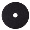 MMM08382:  3M Black Stripper Floor Pads 7200