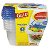 CLO60796PK:  Glad® GladWare® Plastic Containers with Lids