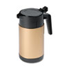 HOR4924:  Hormel Poly Lined Black/Gold Carafe