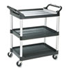 RCP342488BLA:  Rubbermaid® Commercial Three-Shelf Service Cart