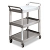 RCP342488PM:  Rubbermaid® Commercial Three-Shelf Service Cart