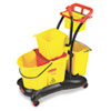 RCP778000YW:  Rubbermaid® Commercial WaveBrake® Mopping Trolley Side Press