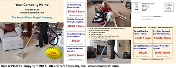 PC-C01:  Postcard - Carpet Cleaning Only