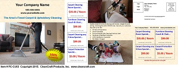PC-CU03:  Postcard - Carpet & Upholstery Cleaning