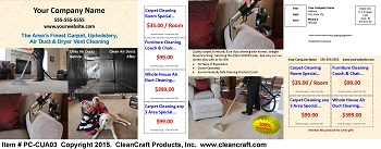 PC-CUA03:  Postcard - Carpet, Upholstery, & Air Duct Cleaning