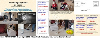 PC-CUAT01:  Postcard - Carpet, Upholstery, Air Duct, and Tile & Grout Cleaning