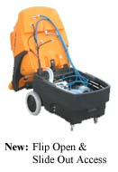 portable carpet cleaning machine flip access