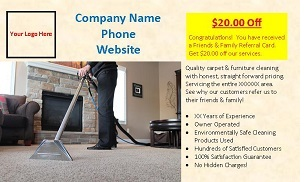 custom carpet cleaning referral cards