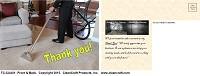 TC-CUA01: Thank You Postcard - Carpet-Upholstery-Air Duct Cleaning