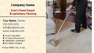 custom carpet cleaning business cards