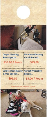 carpet cleaning door hangers
