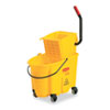 RCP748018YW:  Rubbermaid® Commercial WaveBrake® Bucket/Wringer Combos