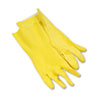 BWK242L:  Boardwalk® Flock-Lined Latex Cleaning Gloves