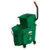 RCP758888GRE:  Rubbermaid® Commercial WaveBrake® Side-Press Wringer/Bucket Combo