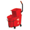 RCP758888RED:  Rubbermaid® Commercial WaveBrake® Side-Press Wringer/Bucket Combo