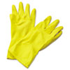 BWK242XL:  Boardwalk® Flock-Lined Latex Cleaning Gloves
