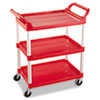 RCP342488RED:  Rubbermaid® Commercial Three-Shelf Service Cart