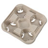 HUH20994CT:  Chinet® StrongHolder® Molded Fiber Cup Trays