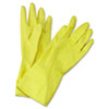 BWK242M:  Boardwalk® Flock-Lined Latex Cleaning Gloves