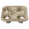 HUH20945:  Chinet® StrongHolder® Molded Fiber Cup Trays