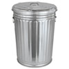 MNL20GALLONWLID:  Magnolia Brush Galvanized Trash Can With Lid