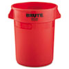 RCP2632RED:  Rubbermaid® Commercial Round Brute® Container
