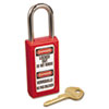 MLK411RED:  Master Lock® Lightweight Zenex™ Safety Lockout Padlock
