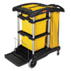 RCP9T73:  Rubbermaid® Commercial HYGEN™ HYGEN™ Microfiber Healthcare Cleaning Cart
