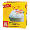 CLO78526CT:  Glad® Tall Kitchen Drawstring Trash Bags