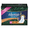 PGC95236:  Always® Ultra Thin Overnight Pads with Wings