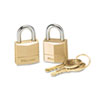 MLK120T:  Master Lock® Twin Brass 3-Pin Tumbler Lock