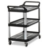 RCP409100BLA:  Rubbermaid® Commercial Open Sided Utility Cart