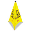 RCP9S0100YL:  Rubbermaid® Commercial Multilingual Pop-Up Safety Cone