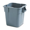 RCP352600GY:  Rubbermaid® Commercial Square Brute® Container