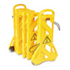 RCP9S1100YEL:  Rubbermaid® Commercial Portable Mobile Safety Barrier
