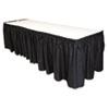 TBLLS2914BK:  Tablemate® Table Set® Linen-Like Table Skirting
