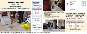 PC-CU01:  Postcard - Carpet & Upholstery Cleaning
