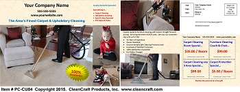 PC-CU04:  Postcard - Carpet & Upholstery Cleaning