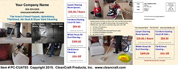 PC-CUAT03:  Postcard - Carpet, Upholstery, Air Duct, and Tile & Grout Cleaning
