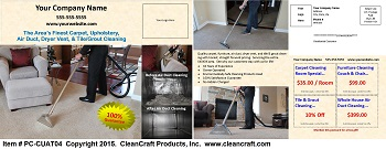 PC-CUAT04:  Postcard - Carpet, Upholstery, Air Duct, and Tile & Grout Cleaning