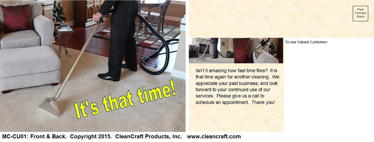 carpet cleaning reminder postcards