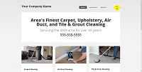 CCWTMP-001:  Carpet Cleaning Website Design 001